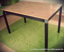 dining table from a simple ikea table ikea hackers