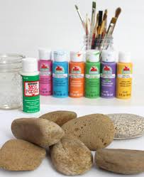 make painted rock plant markers for your garden