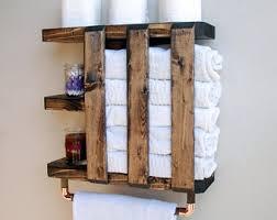 Bathroom Wall Cabinet With Towel Bar by Bathroom Shelf Etsy