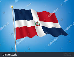 Dominican Republic Flags Vector Art Flags Waving Illustration Dominican Stock Vector