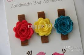 handmade hair bows 2 5 baby felt hair bows hair girl hair accessories baby felt