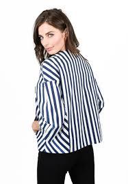baum und pferdgarten baum und pferdgarten barani jacket blue white stripe