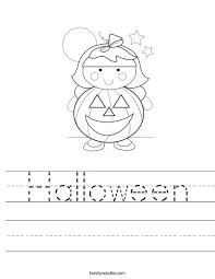 halloween worksheet twisty noodle autumn pinterest