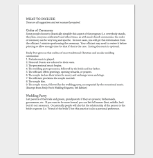 wedding program outline template wedding outline template 13 for word and pdf format
