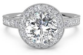 platinum halo engagement rings cut vintage halo engagement ring with