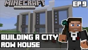 Modern Row Houses - minecraft xbox 360 building a city episode 9 modern row houses