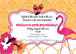 printable flamingo flip flop luau birthday party invite printable