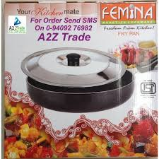 femina cuisine femina 2 6mm non stick 260mm fry pan isi with stainless steel