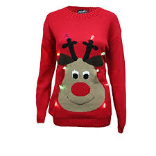 rudolph sweater unisex light up jumper mens womens rudolph led