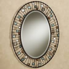 bathroom mirrors for bathrooms ideas hung on cream wall with oval