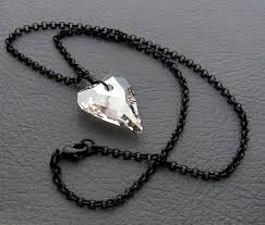 black swarovski crystals necklace images Discover me silverlight jewellery rainy heart necklace jpg