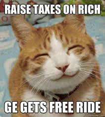 Rich Cat Meme - raise taxes on rich ge gets free ride big government cat quickmeme