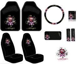 black friday car accessories amazon com ed hardy love kills slowly seat covers floor mats
