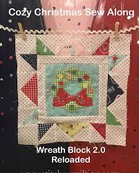cozy christmas wreath block sew along holt sew and blocks