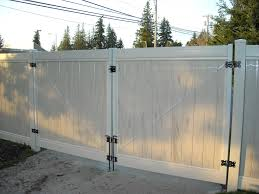 Double Swing Economy Fence Center Vinyl Double Swing Privacy Gate Image Proview