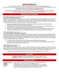 database administration sample resume 10 database administrator