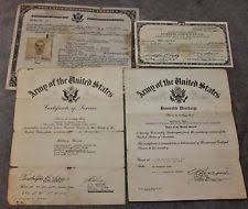 honorable discharge certificate original ww ii us documents maps ebay