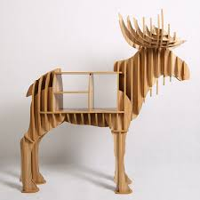 creative wood stag animal furniture diy creative wood crafts table animal