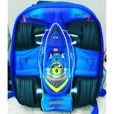 the new and speedy 3d new fast speedy f1 cool 3d racing car boys backpack school