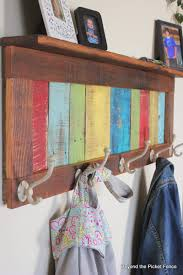 beyond the picket fence colorful rustic coat hook u0026 shelf