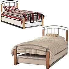 Beech Bed Frame Tetras Beech Metal Single Guest Bed Frame
