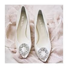wedding shoes kitten heel ivory or white silk wedding shoes with vintage oval