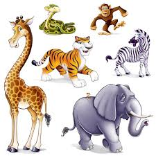 details about jungle safari zoo animals cut outs