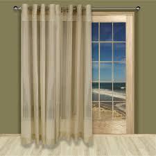 patio sheer patio panel curtain with wooden frame door between