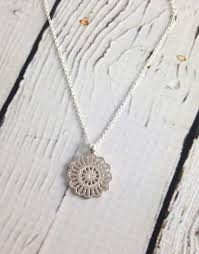 medallion necklace silver images Handmade sterling silver gratitude medallion necklace maya jpg