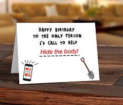 funny birthday card printable card friend birthday card hide