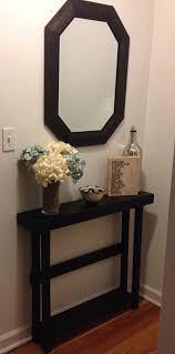 Foyer Entry Tables Modern Makeover And Decorations Ideas Furniture Black Wooden