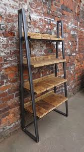 Wooden Ladder Bookshelf Plans by Best 25 Metal Bookcase Ideas On Pinterest Industrial Bookshelf