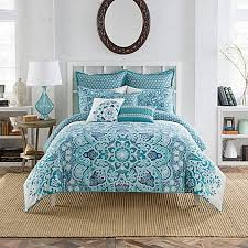 Jennifer Lopez Peacock Bedding Anthology Kaya Reversible Duvet Cover Set In Blue Duvet