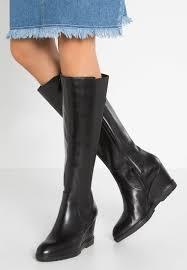women boots geox jilson wedge boots black geox t8rexown