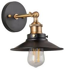 Industrial Wall Sconce Andante Led Industrial Wall Sconce Fixture Antique Brass Linea