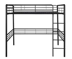 Metal Loft Bed Frame Dhp Metal Loft Bed With Ladder Space Saving