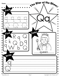 free letter q worksheet tracing coloring writing u0026 more