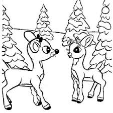 rudolph santas 9th reindeer coloring color luna