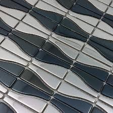 Stainless Steel Mosaic Tile Backsplash by Silver Metal Mosaic Tile Smmt019 3d Mosaic Wall Tiles Backsplash