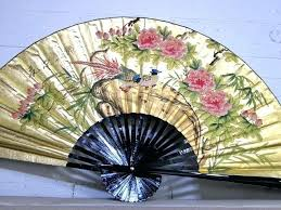 oriental fans wall decor chinese fan wall decor best board images on fans bedroom and