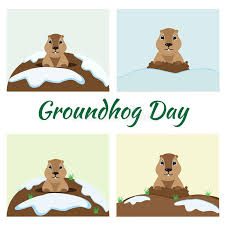 groundhog day cards groundhog day card set stock vector illustration of character