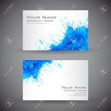 back business card illustration of front and back of corporate business card royalty