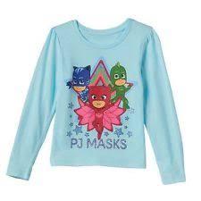 disney junior pj masks girls long sleeve shirt owlette catboy size