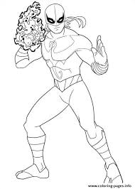 Ultimate Spiderman Iron Fist Coloring Pages Printable Coloring Page Iron