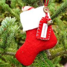 personalised mini felt stocking decoration jackie christmas tree