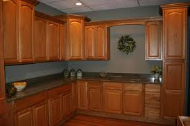 chic paint color ideas for kitchen with oak cabinets epic small