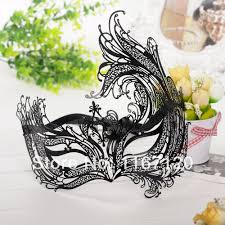 wholesale black metal venetian mask crystal ball masquerade
