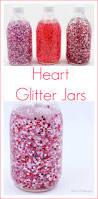 glitter jar of floating hearts for valentine u0027s day