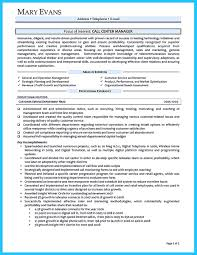 Canada Resume Template Impressing The Recruiters With Flawless Call Center Resume