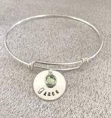 personalized bracelet personalized birthstone bracelet three s a charm designs